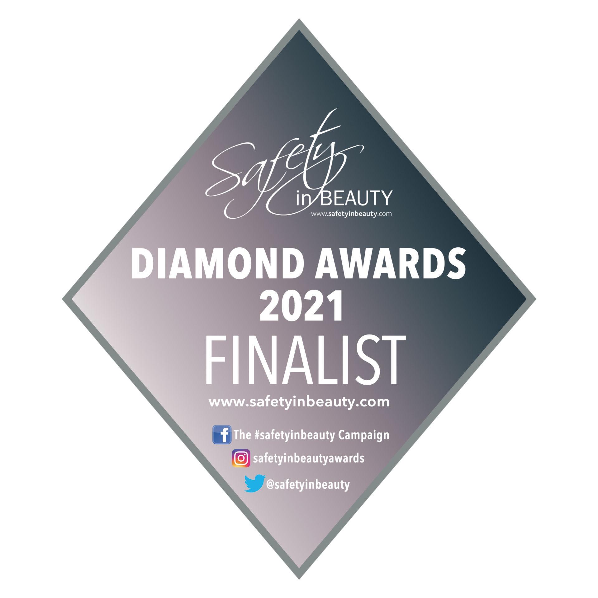 Safety in Beauty Diamond Award Finalists 2021